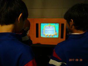2立山砂防カルデラ博物館 2階の砂防に関するクイズコーナーです。難しいです。