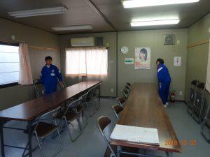 弊社の新社屋建築現場の現場事務所の掃除をしてもらいました。その2
