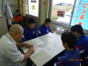 前田所長から工事概要の説明を受けます